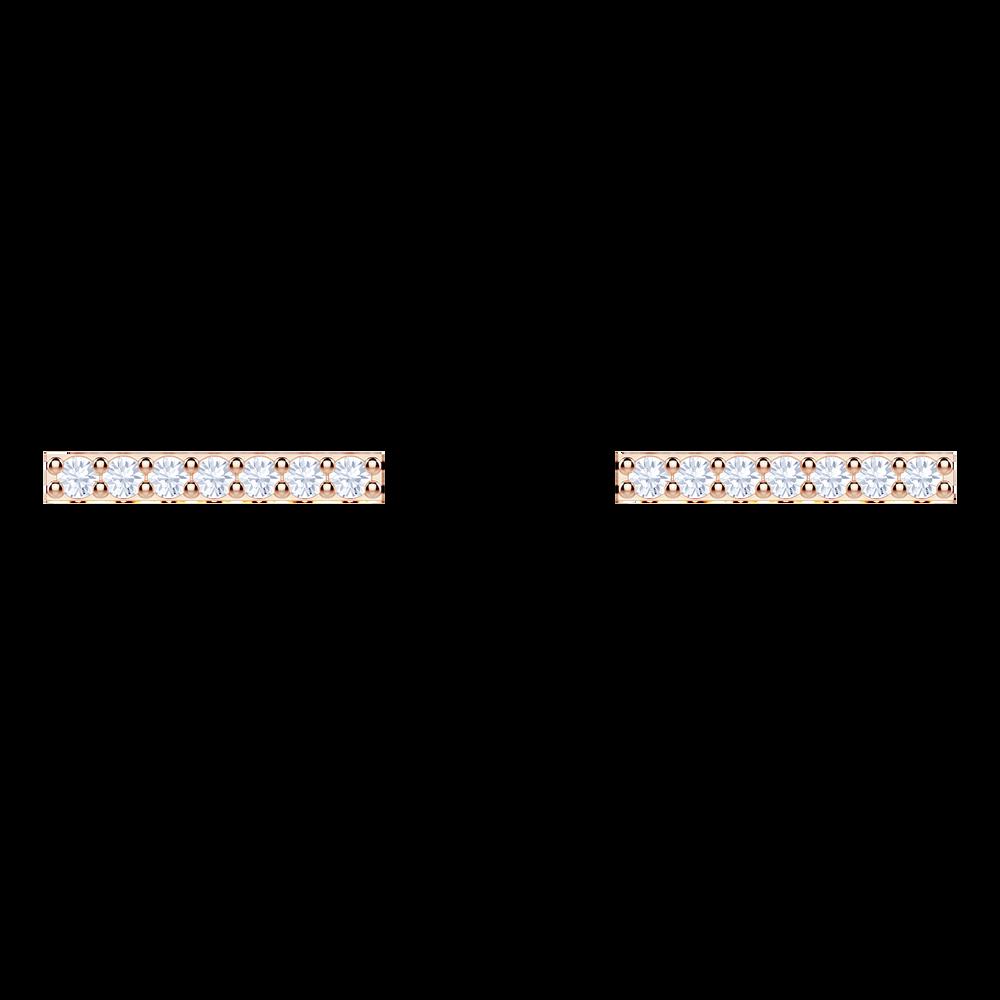 Only Pierced Earrings, White, Rose gold plating