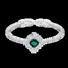 Palace Bracelet, Green, Rhodium plated