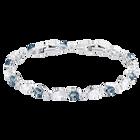 Vintage Bracelet, Blue, Rhodium plating