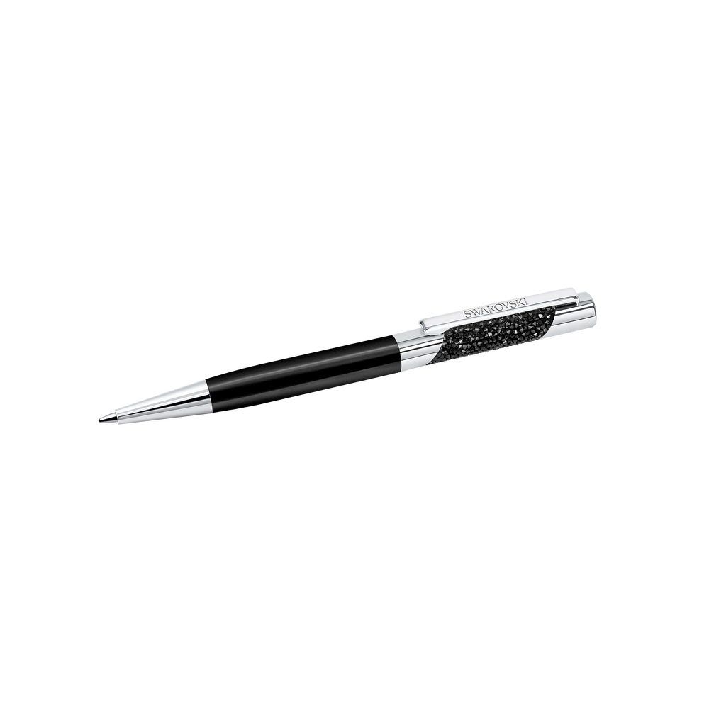 Eclipse Agenda Ballpoint Pen, Black, Chrome Metal