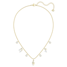 Pleasant Necklace, White, Gold-tone plated