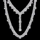 Moonsun Necklace, White, Rhodium plated