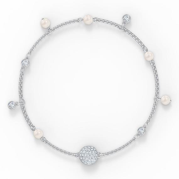 Swarovski Remix Collection Delicate Pearl Strand, White, Rhodium plated