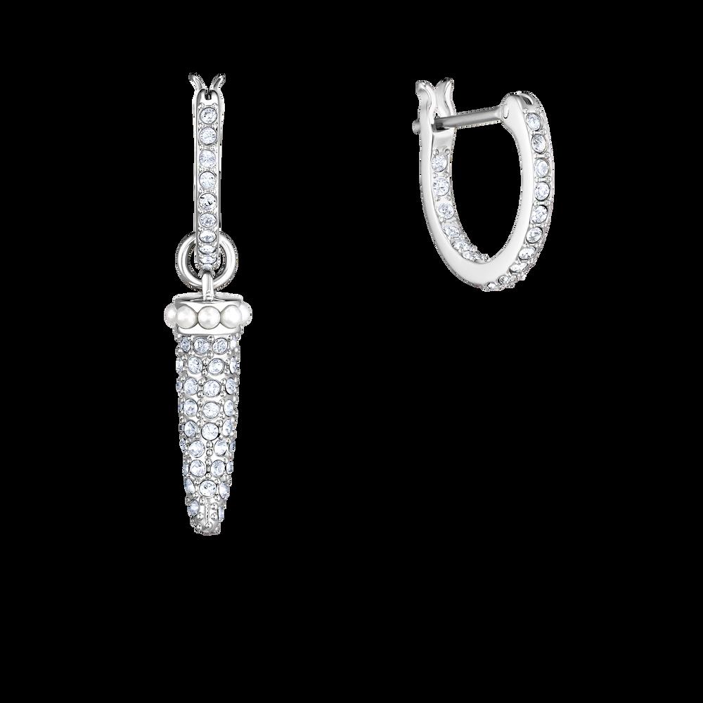 Polar Bestiary Hoop Pierced Earrings, Multi-colored, Rhodium plated
