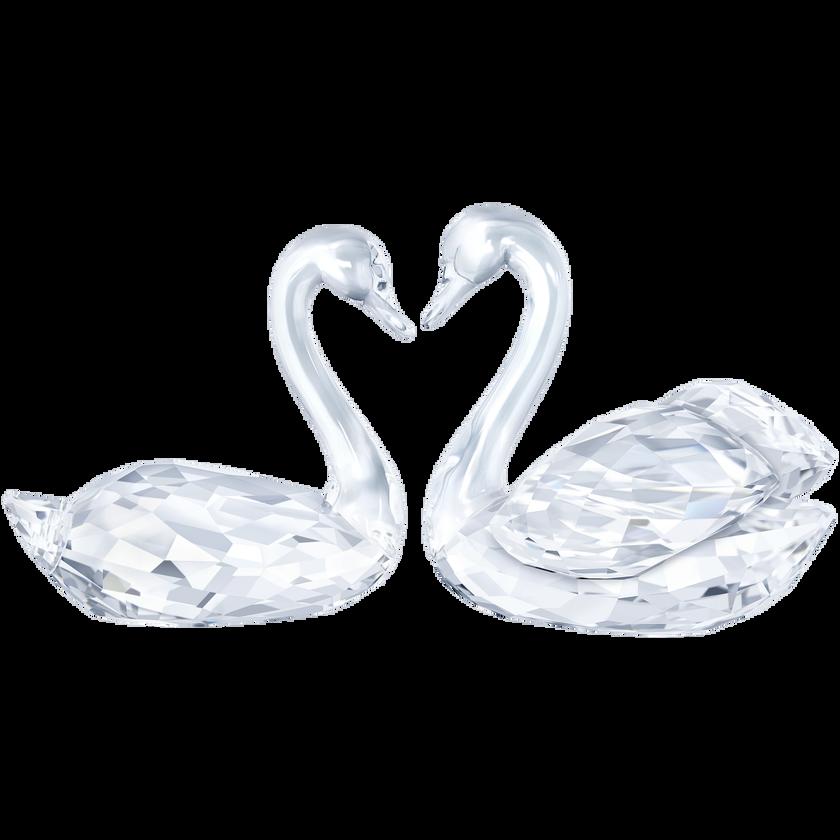 Swan Couple Crystal Creations