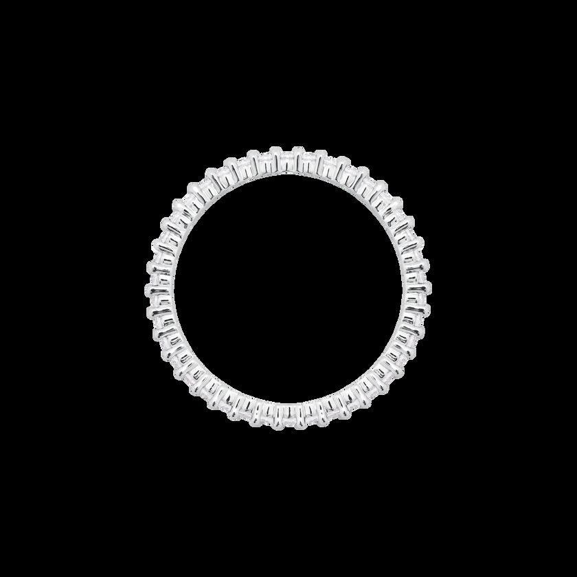 Vittore Ring, White, Rhodium Plated
