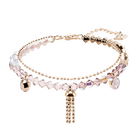 Ocean View Bracelet, Multi-colored, Rose gold plating