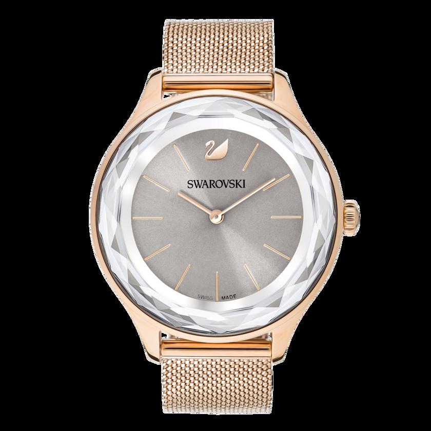 Octea Nova Watch, Milanese bracelet, Gray, Rose gold tone