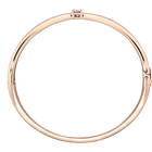 Fresh Bangle, White, Rose Gold Plataed