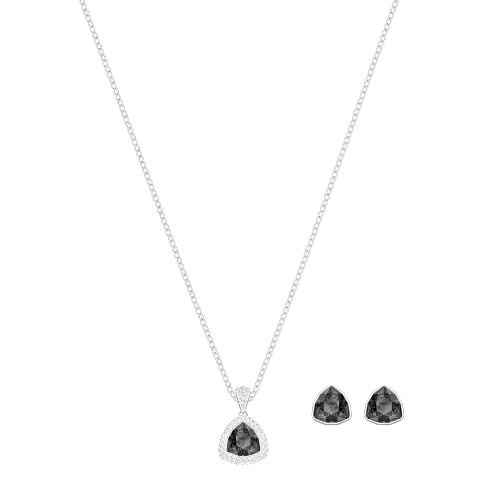 Begin Set, Gray, Rhodium plated