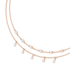 Penélope Cruz Moonsun Double Necklace, White, Rose gold plating