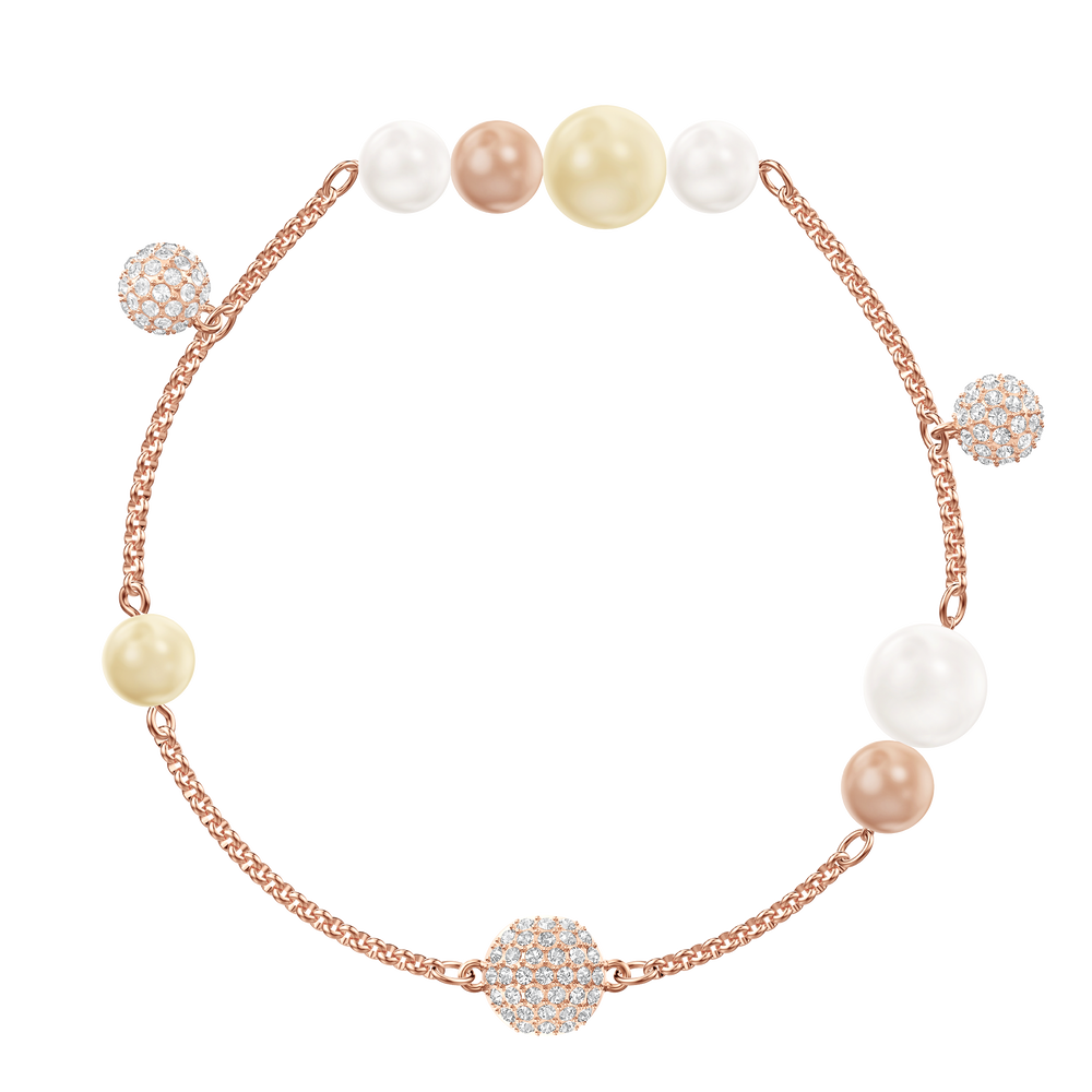 Swarovski Remix Collection Pearl Strand, Multi-colored, Rose gold plating