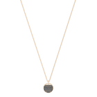 Ginger Pendant, Gray, Rose-gold tone plated