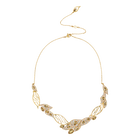 Graceful Bloom Statement Necklace, Brown, Gold-tone plated