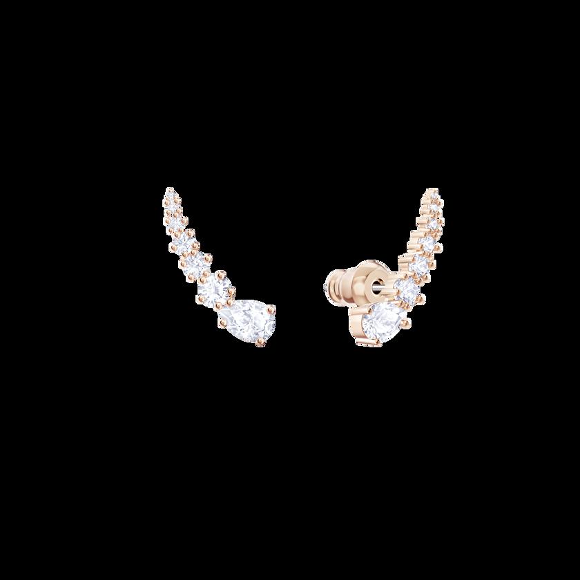 Penélope Cruz Moonsun Earrings, White, Rose gold plating