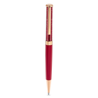 Crystalline Ballpoint Pen, Red, Rose-gold tone plated