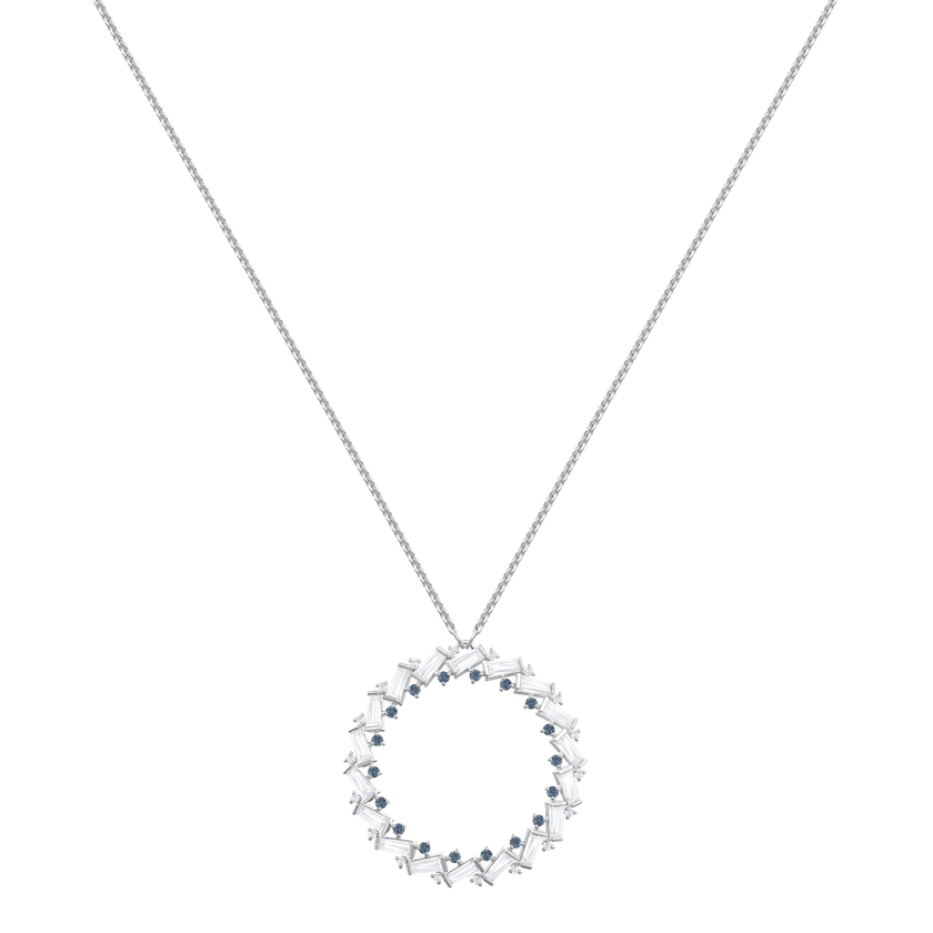 Naeli Necklace, White, Rhodium plating