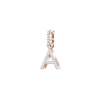 Swarovski Remix Collection Charm A, White, Rose Gold Plating