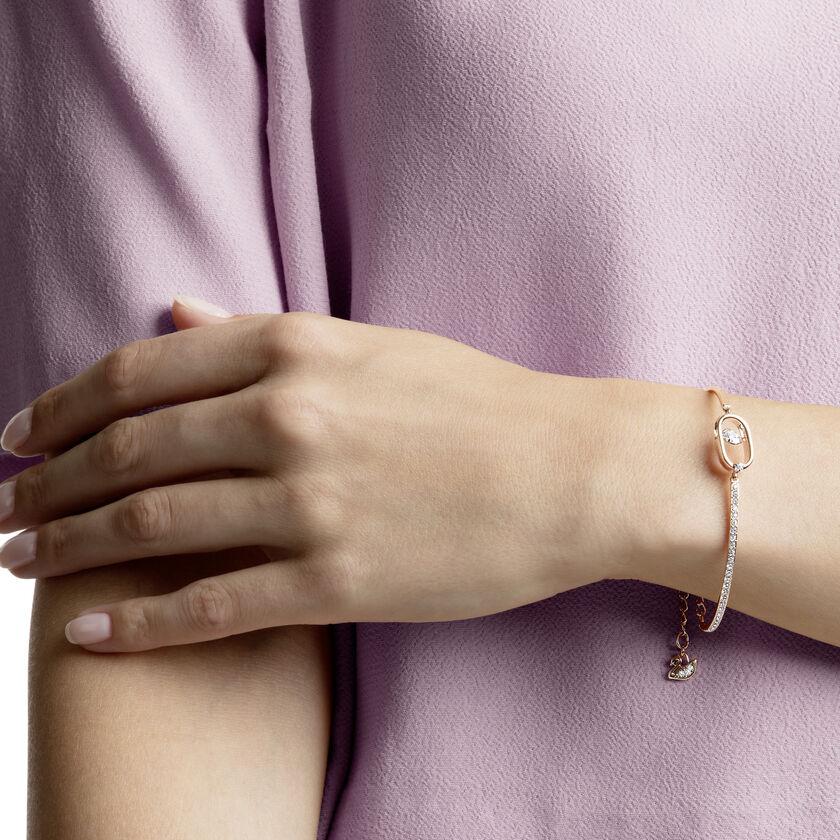 North Bracelet, White, Rose gold plating