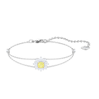 Sunshine Bracelet, White, Rhodium plating