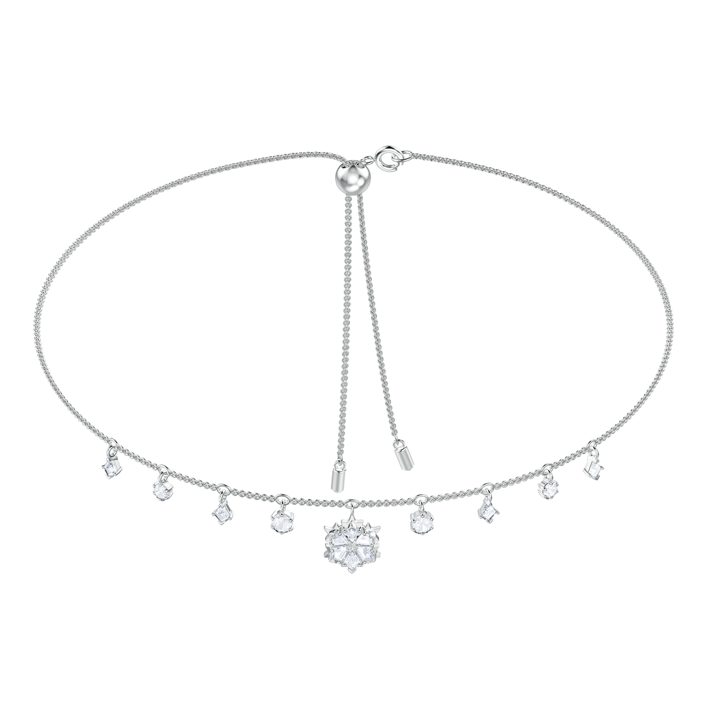 Magic Necklace, White, Rhodium Plating