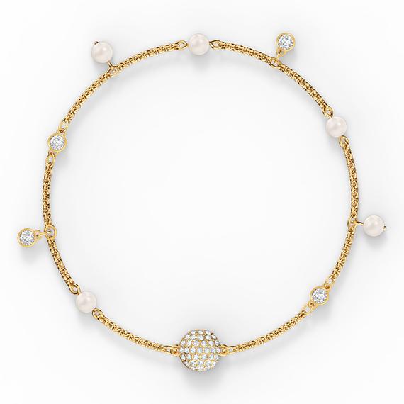 Swarovski Remix Collection Delicate Pearl Strand, White, Gold-tone plated