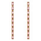 Fluid Detachable Earrings, Violet, Rose-gold tone plated