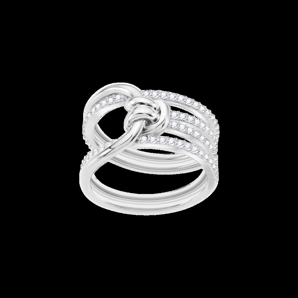 Lifelong Wide Ring, White, Rhodium Plating