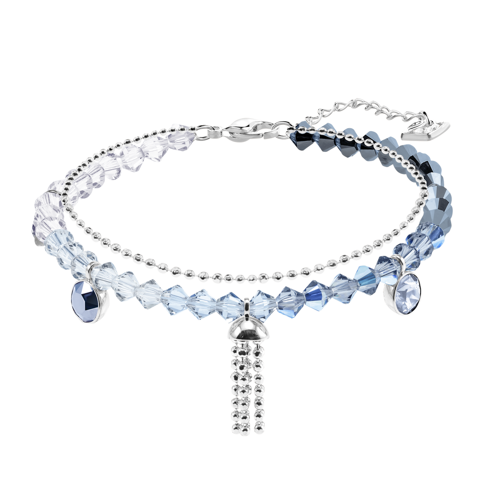 Ocean View Bracelet, Multi-colored, Rhodium plating