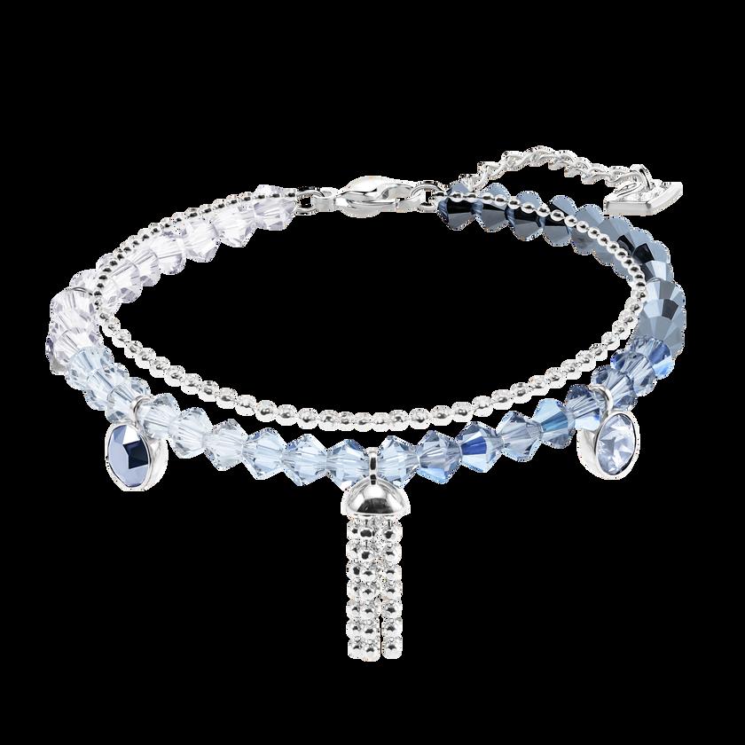 Ocean View Bracelet, Multi-colored, Rhodium plating