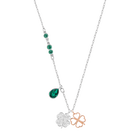 Swarovski Symbolic Clover Pendant, Green, Mixed metal finish