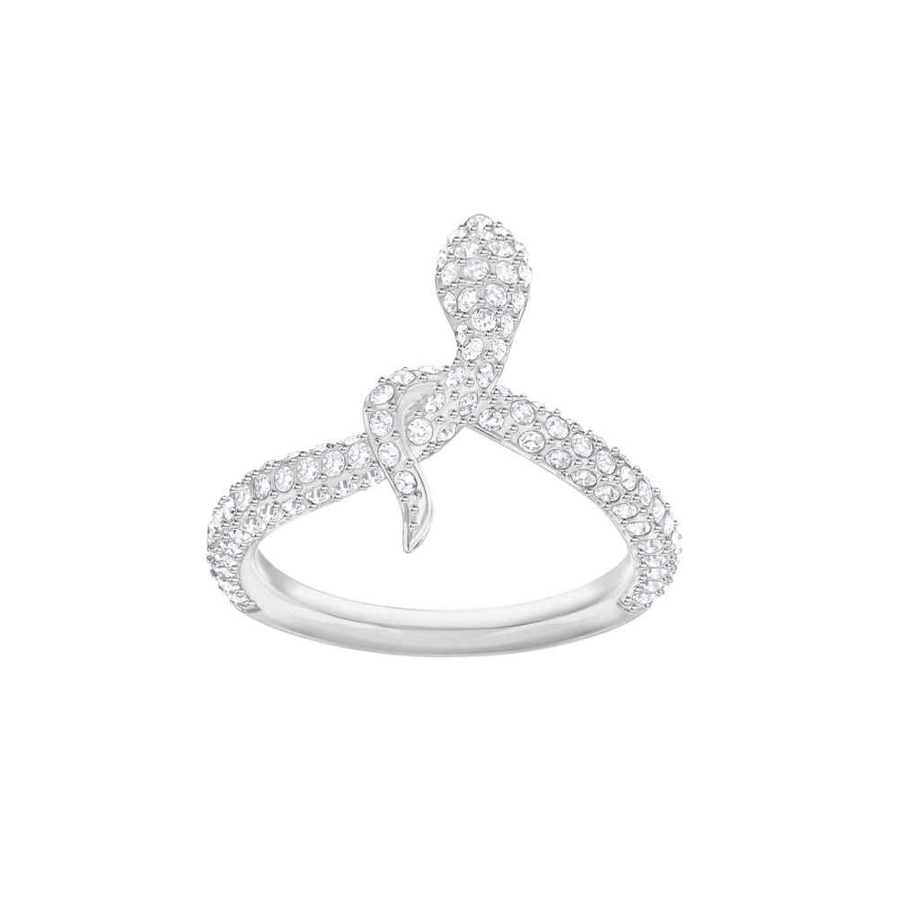 Leslie Ring, White, Rhodium Plating