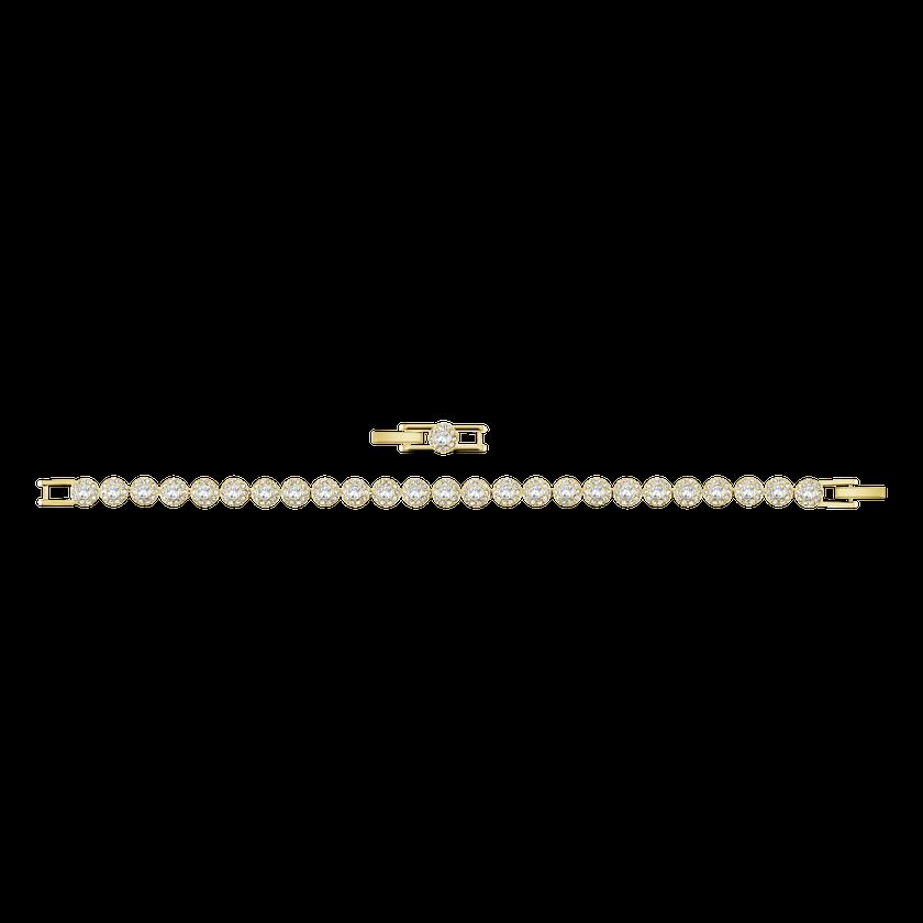 Angelic Bracelet, White, Gold-tone plated