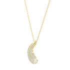 Nice Necklace, White, Gold-tone plated