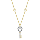 Tarot Magic Necklace, White, Gold-tone plated