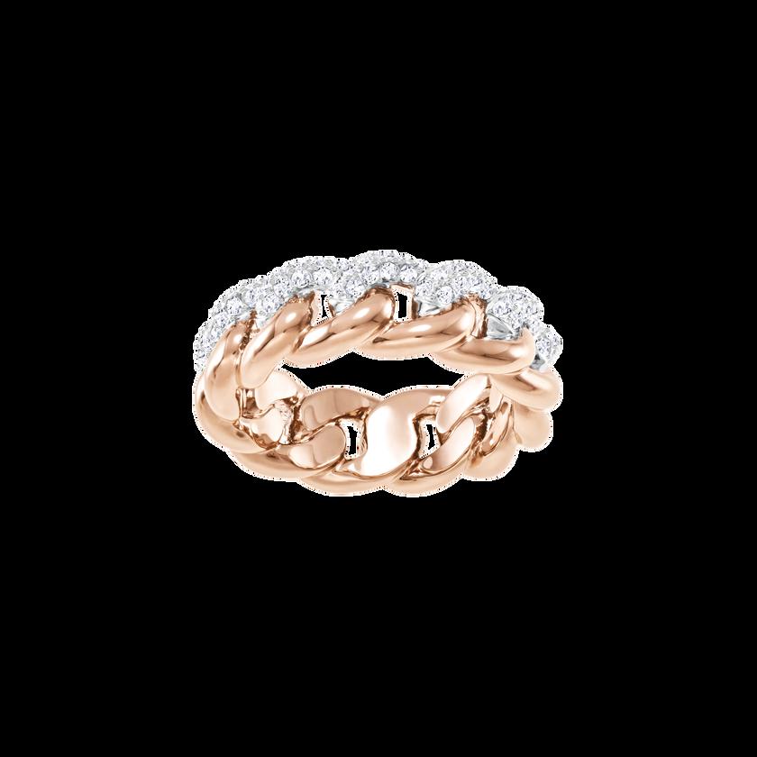 Lane Ring, White, Rose Gold Plating