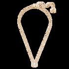 Swarovski Sparkling Dance Round Necklace, White, Rose gold tone plated