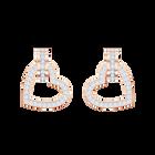Lovely Pierced Earrings, White, Rose gold plating