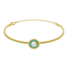 Oxygen Bangle, Multi-colored, Gold plating