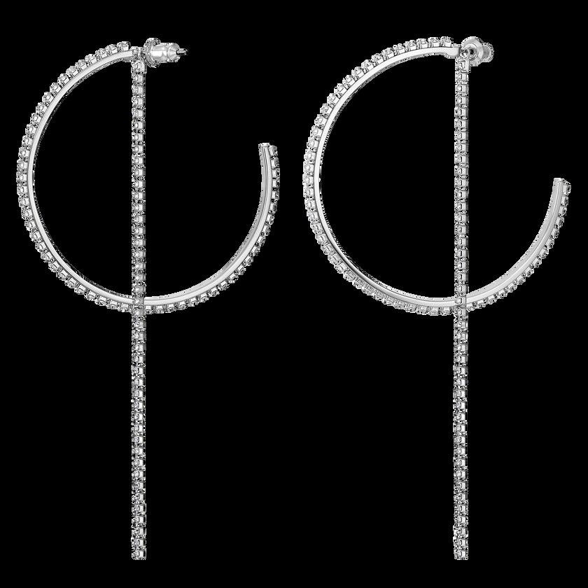 Fit Hoop Pierced Earrings, White, Stainless steel