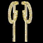 Fit Hoop Pierced Earrings, White, Gold-tone plated