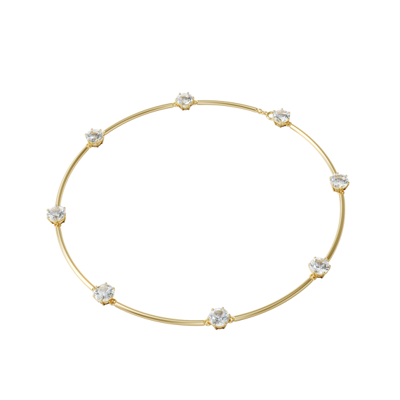 Constella choker, White, Gold-tone plated