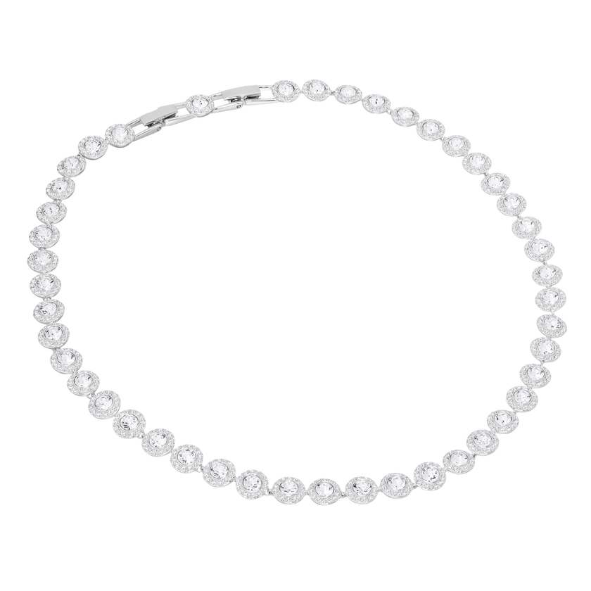 Angelic Necklace, White, Rhodium Plated