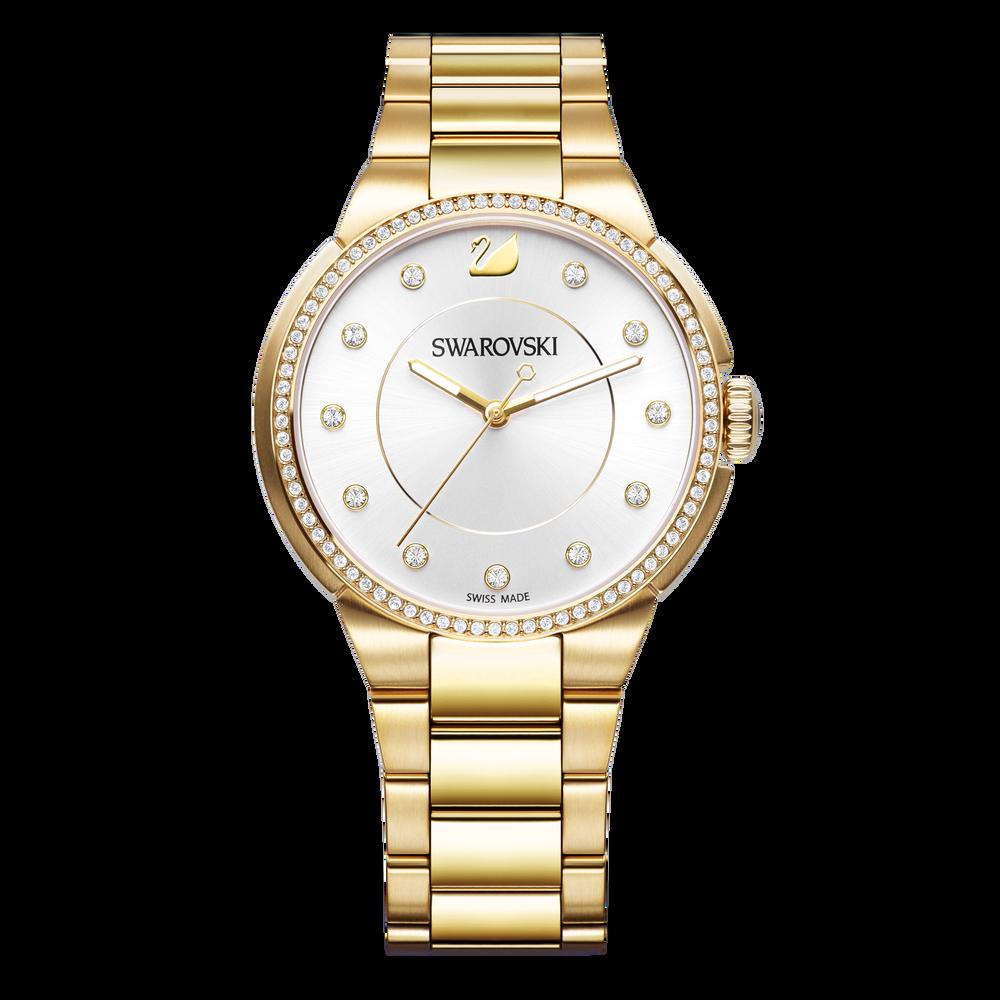 City Watch, Metal bracelet, White, Gold tone
