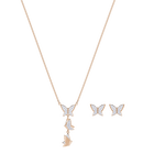 Lilia Set, White, Rose Gold Plating