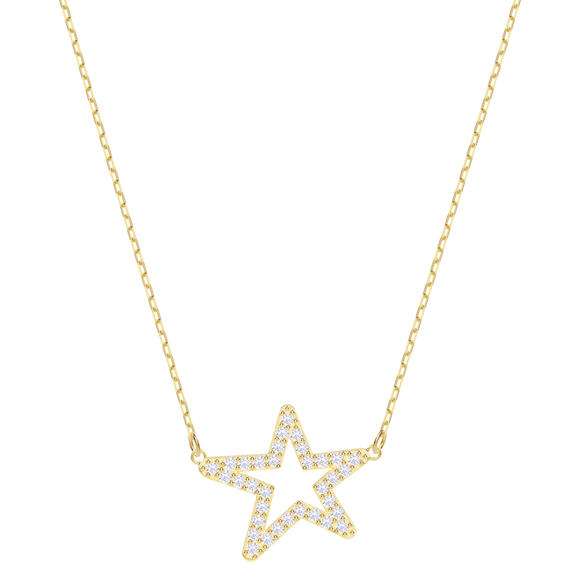 Only Necklace, White, Gold plating