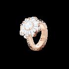Sunshine Ring, White, Rose gold plating
