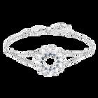Naeli Bracelet, White, Rhodium plating