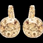 Bella Pierced Earrings, Golden, Gold Plated