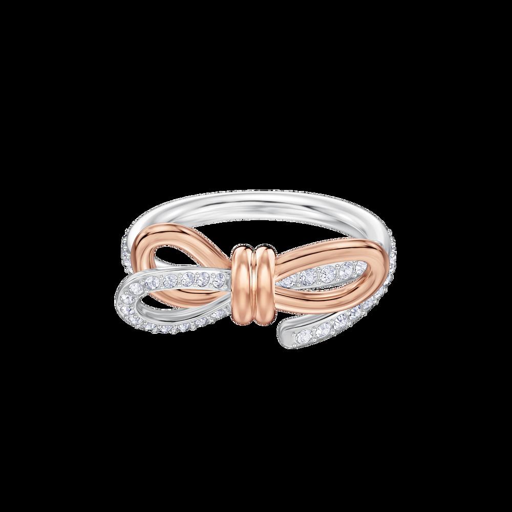 Lifelong Medium Bow Ring, White, Mixed plating